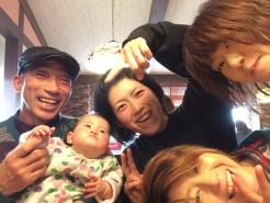 鳥取に嫁いだ長女達も元気元気(^^)♫ かっちゃんは、孫達にデレデレでございま~す(笑)