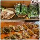 一品料理の数々と季節の野菜直販