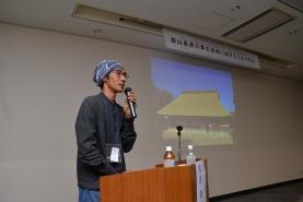 啖呵かやぶきやね保存会くさかんむり代表の相良育弥氏。茅の新しい需要づくりに向けて、国内外の様々な取り組みについて説明して頂きました。