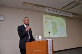 樋口会長は、社地域の式内八社や大祭の紹介や、歴史ボランティアガイド、竹の活用など、地域資源を活用した取り組みについて説明されました!!