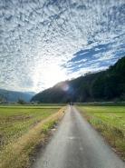 のんびり田舎の景色を楽しみながら