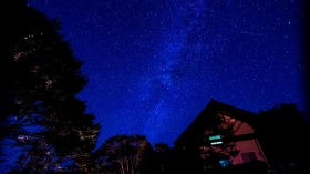 満点の星空が楽しめます。