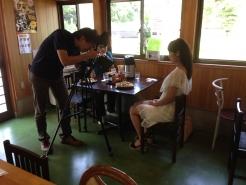 先日は、美しいモデルさんが写真撮影に来られました。 岡山県内の観光案内に利用されるかもです。   多くの人に、蒜山の魅力を知っていただけるように、この地から発信していきたいと思います。